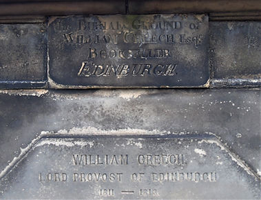 William Creech Inscription Grave Greyfriars Edinburgh