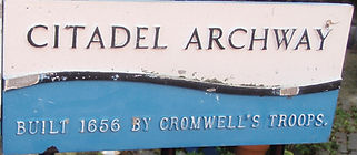 Plaque The Citadel Archway Built 1656 Edinburgh