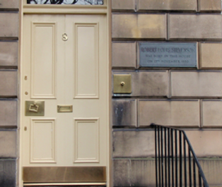 Robert Louis Stevenson's Birthplace Canonmills 8 Howard Place Edinburgh