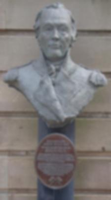 BUST OF GOVERNOR JOHN HUNTER LEITH EDINBURGH