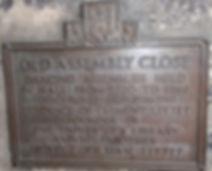 Bronze Plaque Old Assembly Close Royal Mile Edinburgh