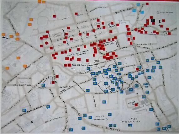 MAP OF EDINBURGH CITY CENTRE
