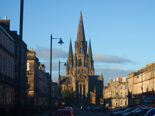 The 3 spires of Edinburgh's largest Cathedral
