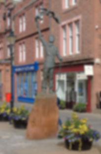 John Muir Statue High Street Dunbar East