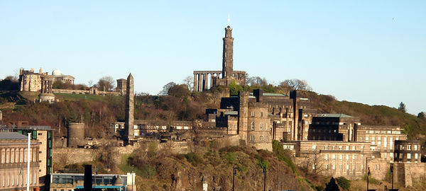 The end of the Flodden Wall below Calton Hill