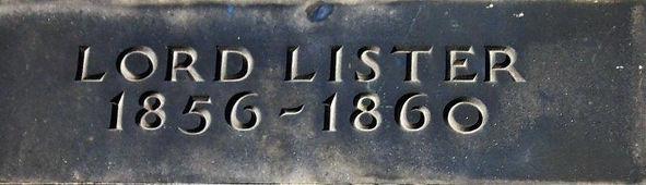 Lord Listor Plaque.Rutland Street Edinburgh