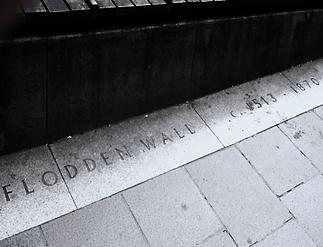Flodden wall markers Grassmarket Edinburgh