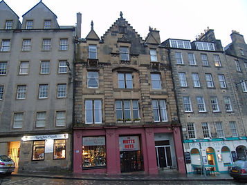 Where Major Weir's Land was in West Bow Edinburgh
