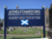 Athelstaneford scottish flag notice board