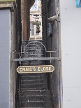 Craig's Close from market Street to Cockburn Street Edinburgh