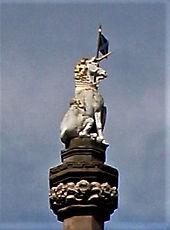 Unicorn on Mercat Cross Edinburgh