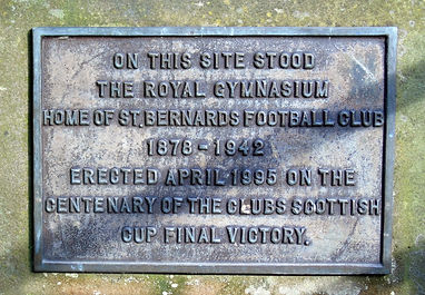 King George V Park Plaque St Bernards Football Club
