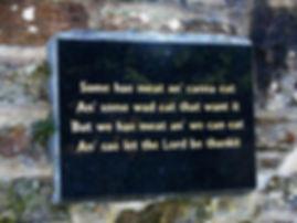 Robert Burns Poem Plaque Dumfries
