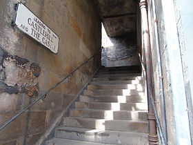 West Bow steps leading to Upper Bow and Castlehill