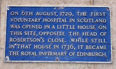 Royal Infirmary of Edinburgh Infirmary Street Edinburgh 1736