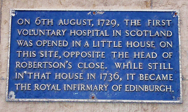 Royal Infirmary of Edinburgh Infirmary Street Edinburgh 1736