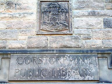 Corstorphine Public Library Inscription