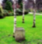 Memorial Stone in west Princes Street Gardens Edinburgh to Robert Luois Stevenson
