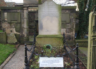Robert Fergusson's Grave Canongate Kirk