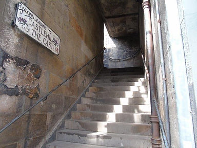 West Bow steps to Upper Bow and Castlehill Edinburgh