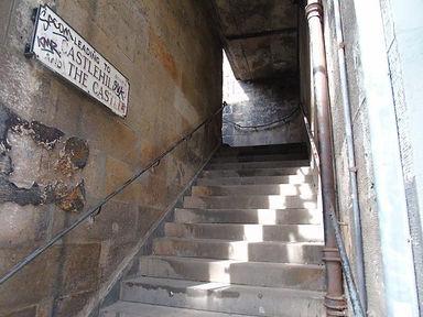 West Bow steps to Upper Bow and Castlehill Edinburgh
