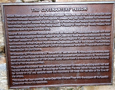 Covenannters Prison Plaque Greyfriars Edinburgh