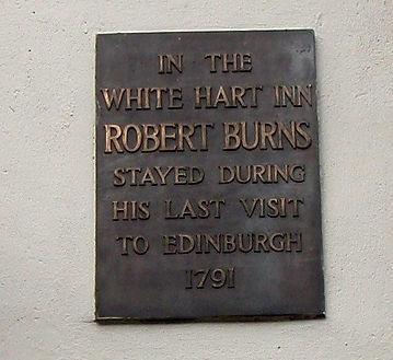 Robert Burns White Hart Inn Grassmarket Edinburgh