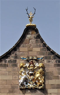 Canongate Kirk Stags Head and Royal Coat of Arms