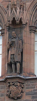 statue of George Buchanan scottish national portrait gallery queen street edinburgh