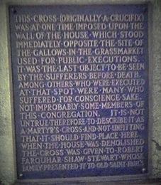 grassmarket cross plaque