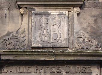 Bailie Fyfe's Close Lintel High Street E