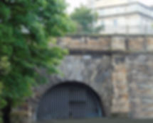 Canal Tunnel at Scotland Street once the raiway from Princes Street Edinburgh