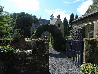 Humbie Parish Church entrance.East Lothi