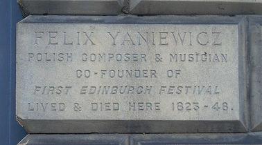 Felix Yaniewicz Plaque Great King Street