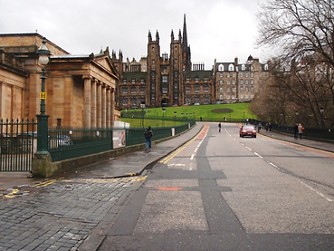 view of the Mound in Edinburgh