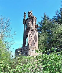William Wallace Statue  Dryburgh Scottis