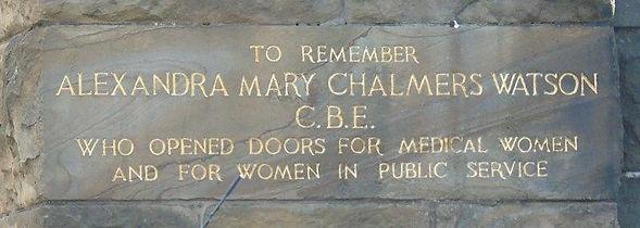 Alexandra Mary Chalmers Watson.