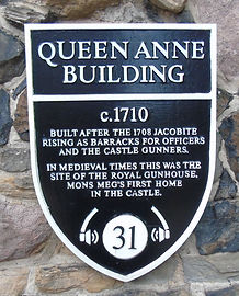 Queen Anne Building Plaque Edinburgh Castle