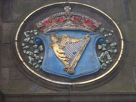 Mecat Cross Irish Coat of Arms Medallion