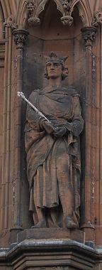 statues of King Alexander III scottish national portrait gallery queen street edinburgh
