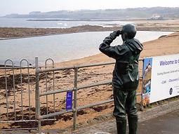 RNLI Seamen on Watch North Berwick Harbour East Lothian
