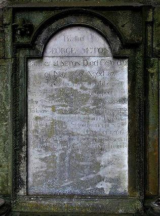 George Seton Grave Stone Tranent Parish Church East Lothian