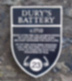 Dury's Battery Plaque Edinburgh Castle