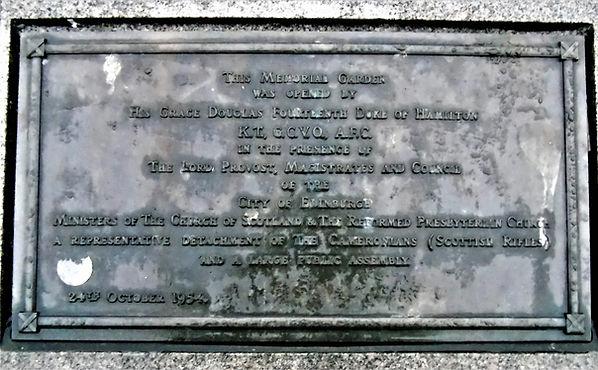 West Port Grassmarket Memorial Garden