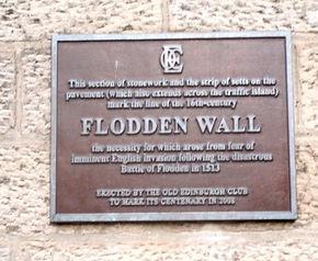 Flodden Wall Plaque Bristo Port Forrest