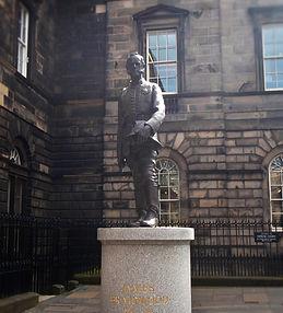 royal mile James braidwood statue high street edinburgh