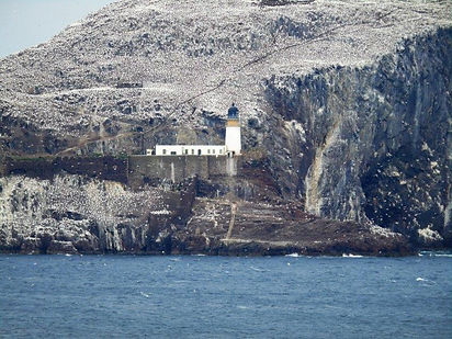 Bass Rock Lighthouse and Castle ruins