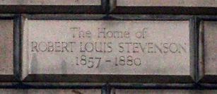 robert louis stevenson Heriot Row plaque edinburgh