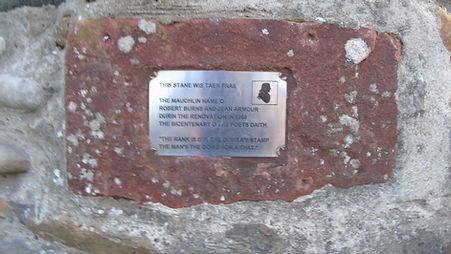Mauchline Stane Robert Burns, Calton Hil
