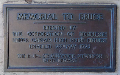 Edinburgh Caste Esplanade Drawbridge  Robert the Bruce Plaque